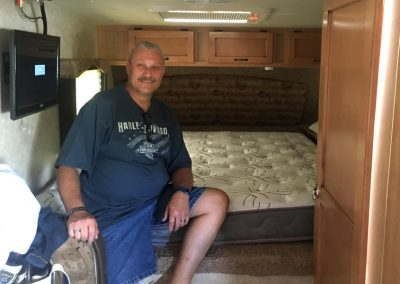 Custom bed made for a camper