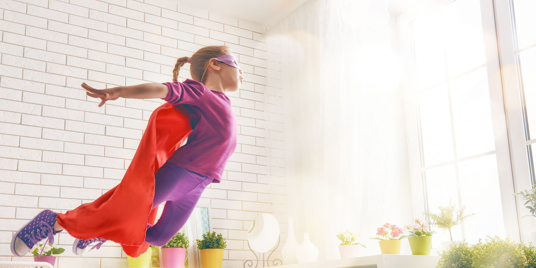 easy comfort mattress - girl being super hero