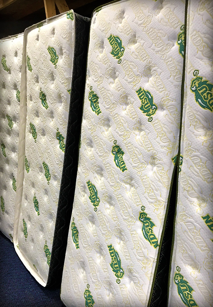 NDSU embroidered mattress