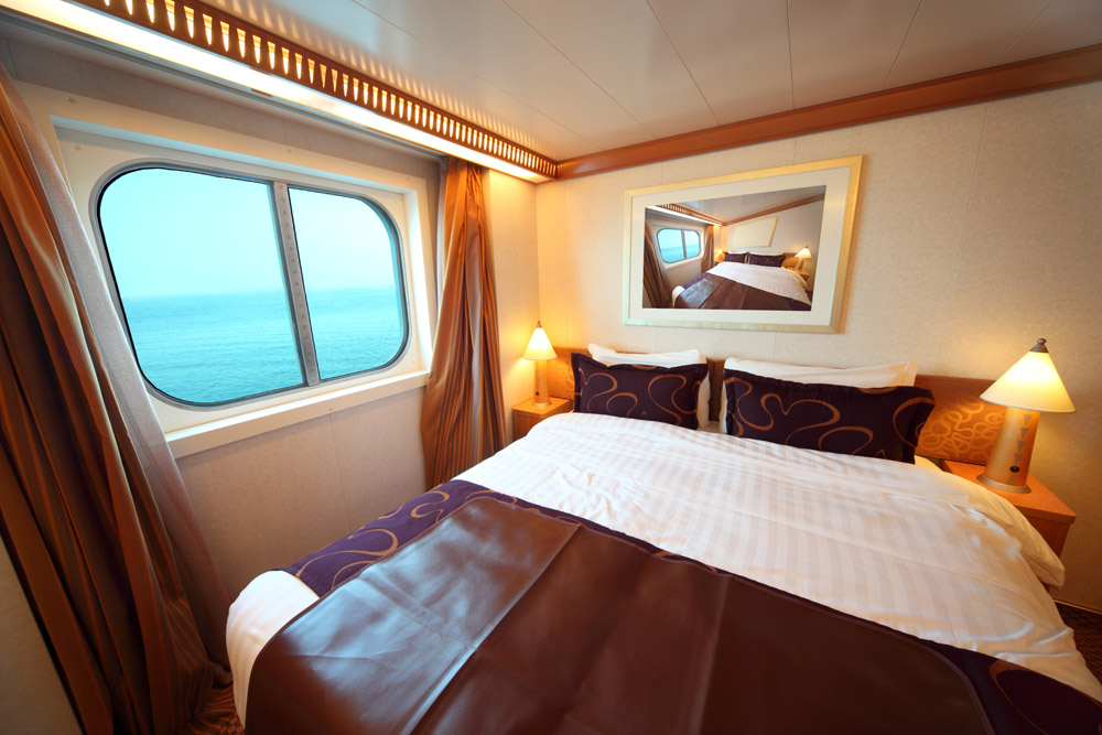 Custom bed inside a boat!